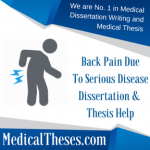 Back Pain Due To Serious Disease