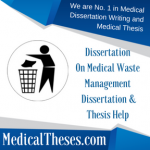 Dissertation On Medical Waste Management