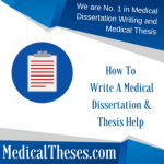 How To Write A Medical Dissertation